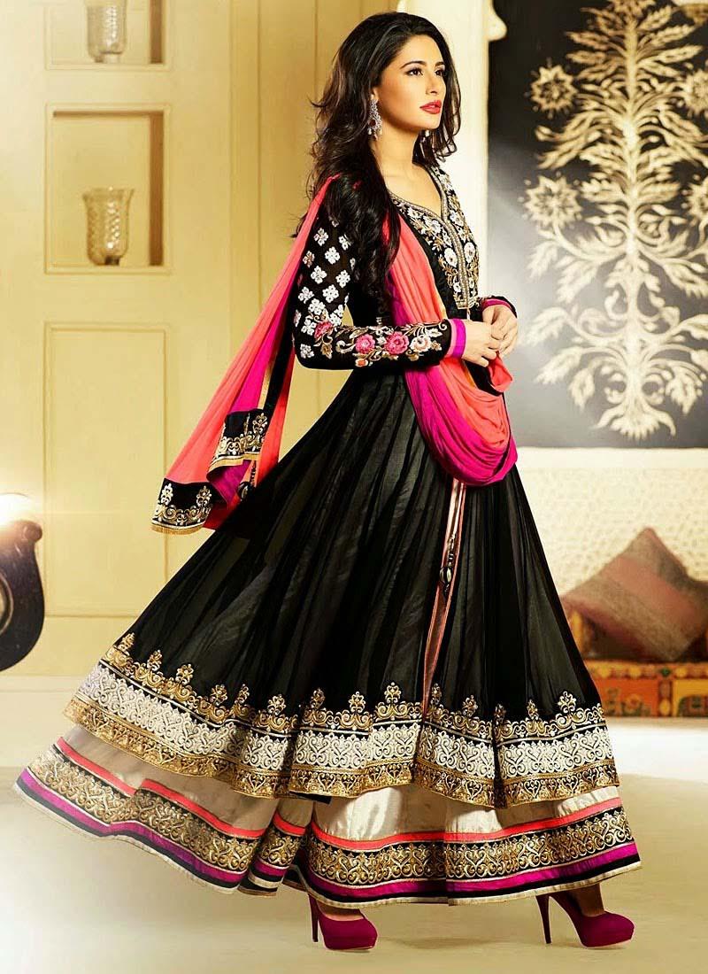 Floor-Length-Anarkali-Suits-Designs-In-Black-2015-Trends