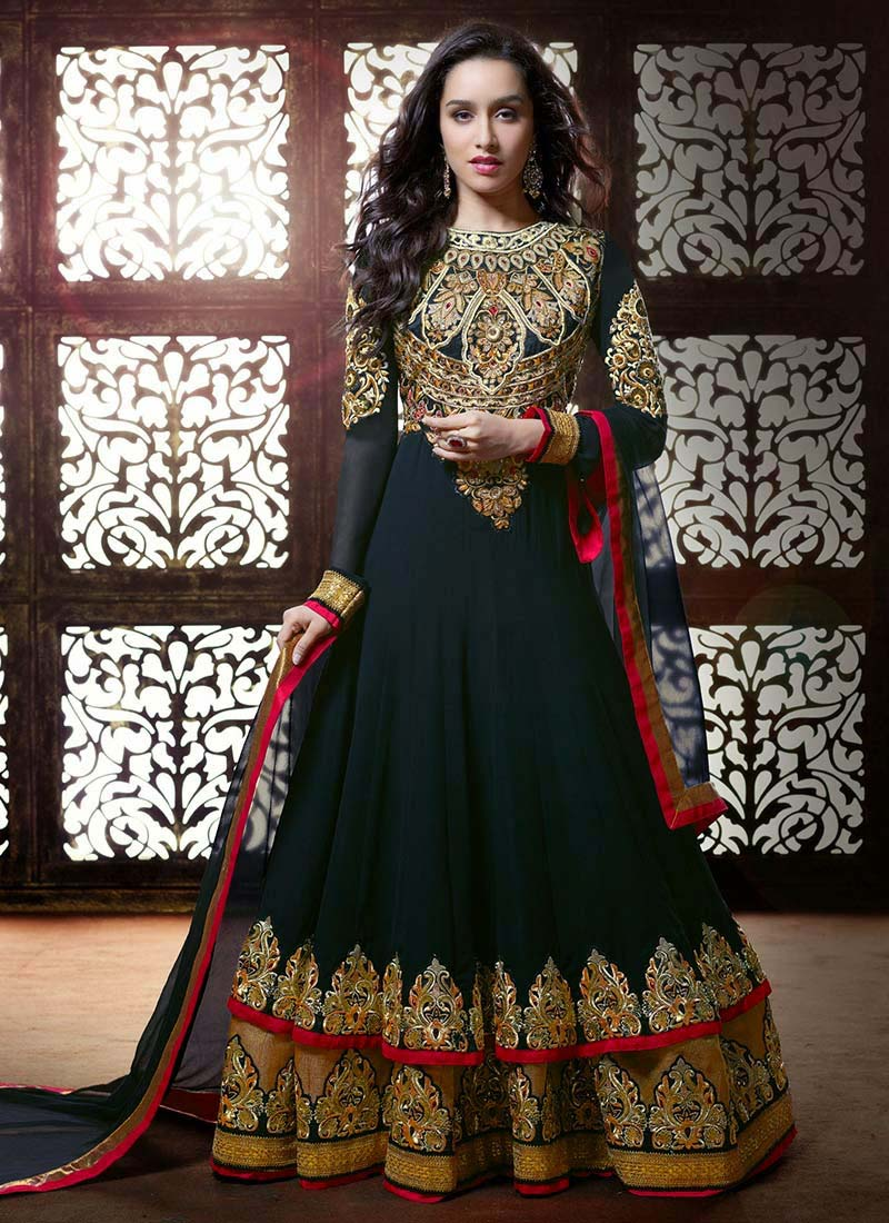 Floor-Length-Anarkali-Suits-Designs-In-Black-2015