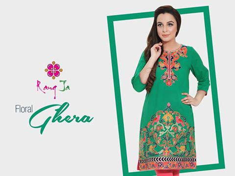 Rang Ja Floral Ghera Dress 2016