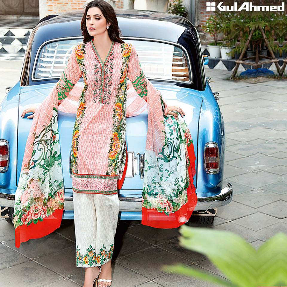 Gul Ahmed Festive Eid 2016 Embroidered Chiffon Collection (2)
