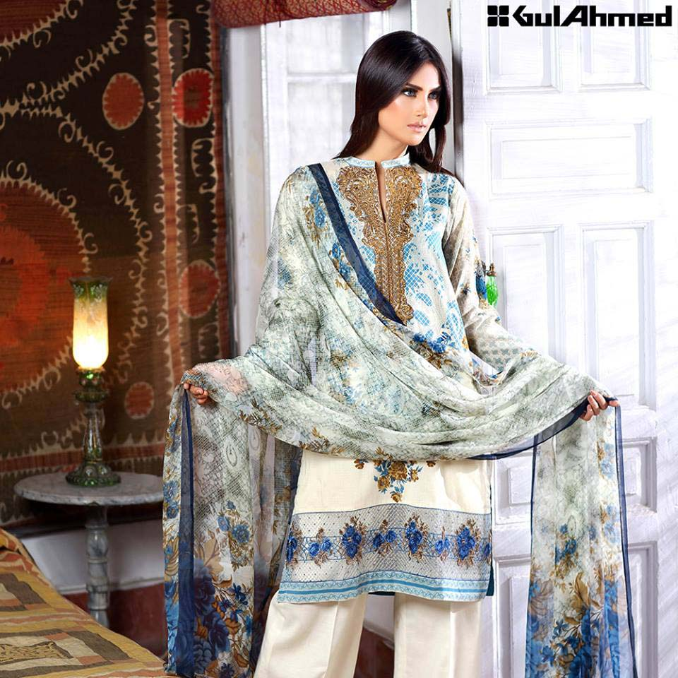 Gul Ahmed Festive Eid 2016 Embroidered Chiffon Collection (3)