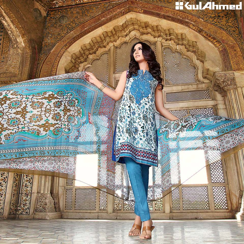 Gul Ahmed Festive Eid 2016 Embroidered Chiffon Collection (7)