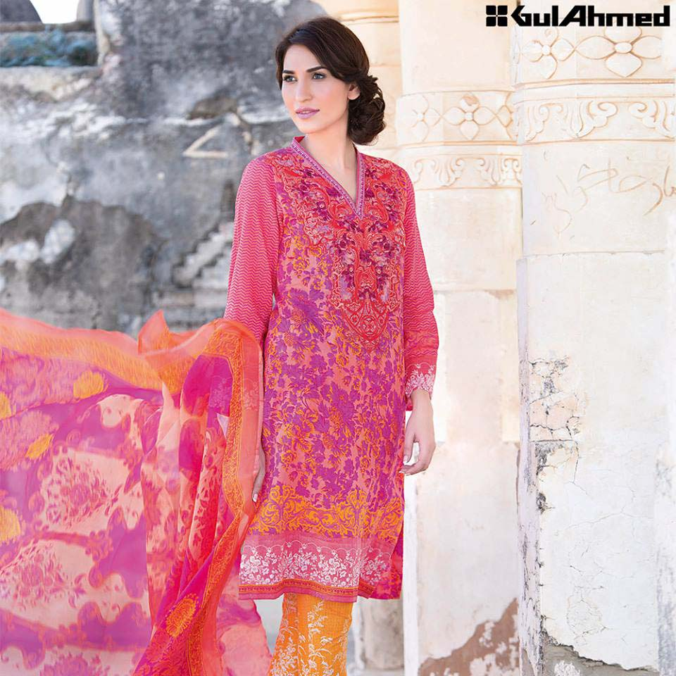 Gul Ahmed Festive Eid 2016 Embroidered Chiffon Collection (8)