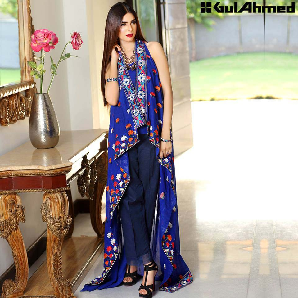 Gul Ahmed Festive Eid 2016 Embroidered Singles Collection (12)