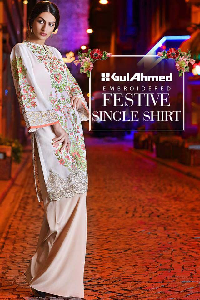 Gul Ahmed Festive Eid 2016 Embroidered Singles Collection (14)
