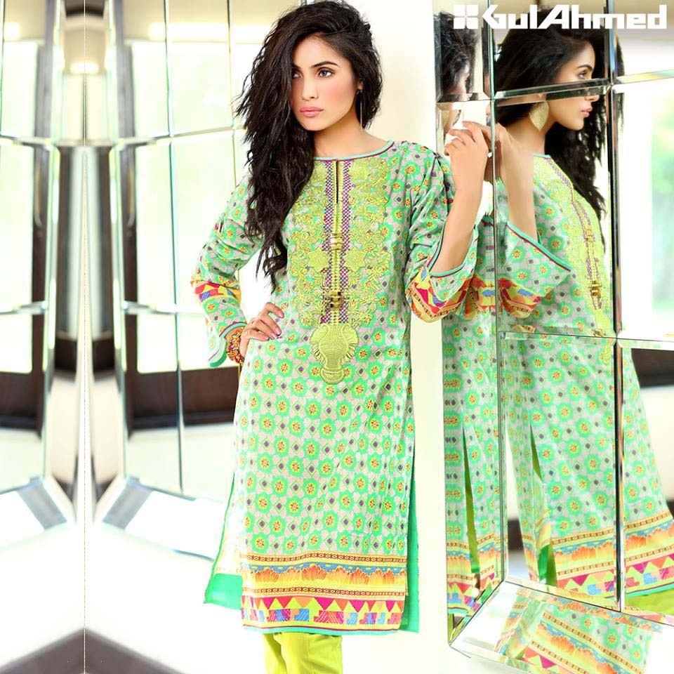 Gul Ahmed Festive Eid 2016 Embroidered Singles Collection (8)