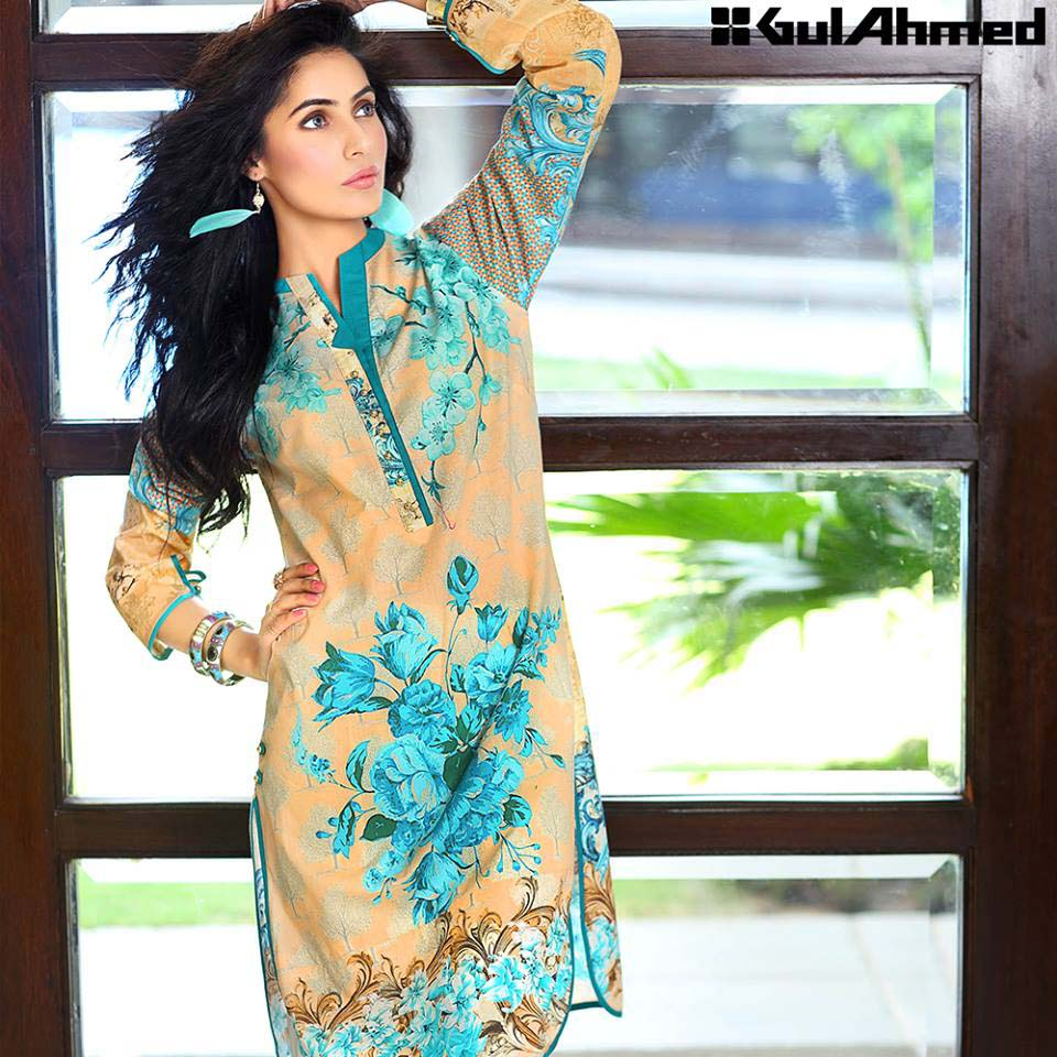 Gul Ahmed Festive Eid 2016 Single Shirts Collection (11)