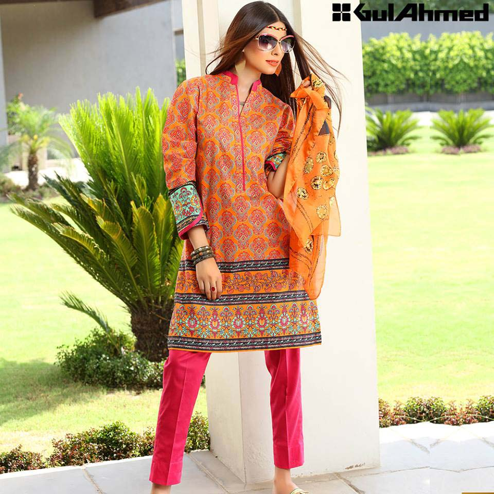 Gul Ahmed Festive Eid 2016 Single Shirts Collection (12)