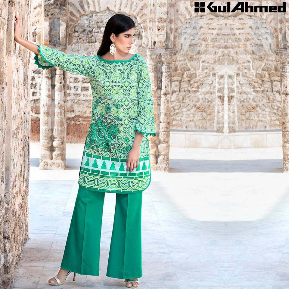 Gul Ahmed Festive Eid 2016 Single Shirts Collection (14)