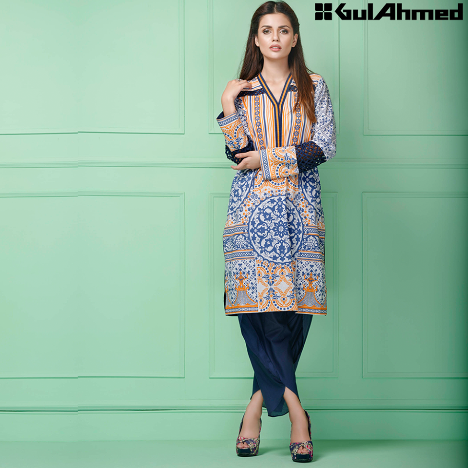 Gul Ahmed Festive Eid 2016 Single Shirts Collection (4)