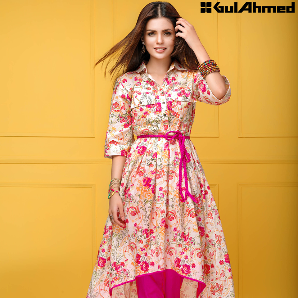 Gul Ahmed Festive Eid 2016 Single Shirts Collection (5)