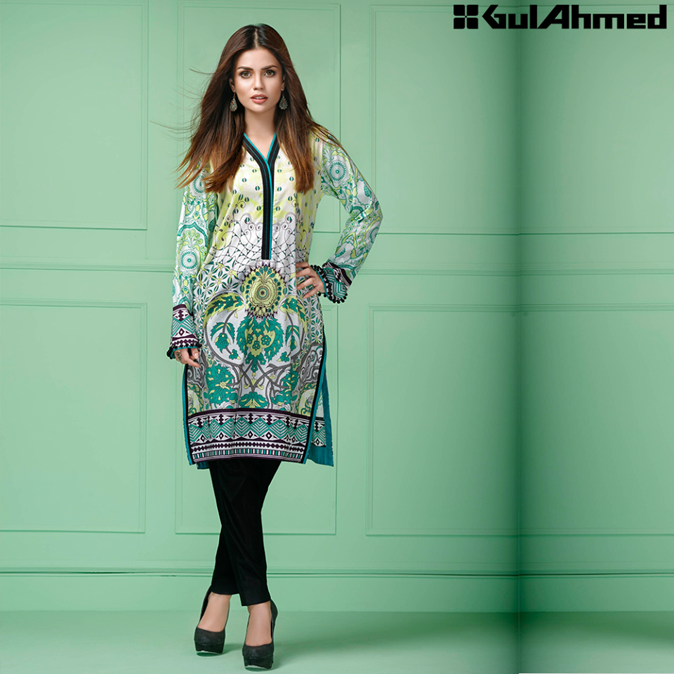 Gul Ahmed Festive Eid 2016 Single Shirts Collection (8)