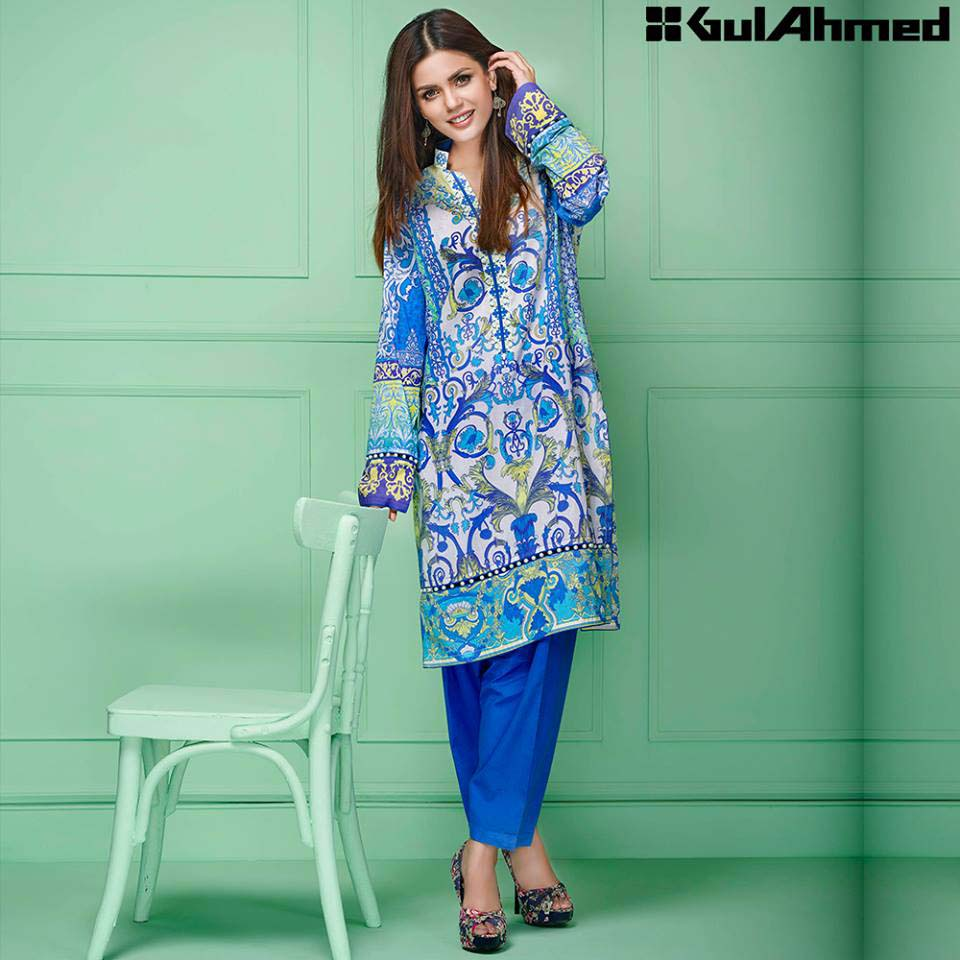 Gul Ahmed Festive Eid 2016 Single Shirts Collection (9)