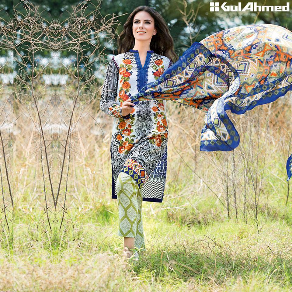 Gul Ahmed eid silk dresses