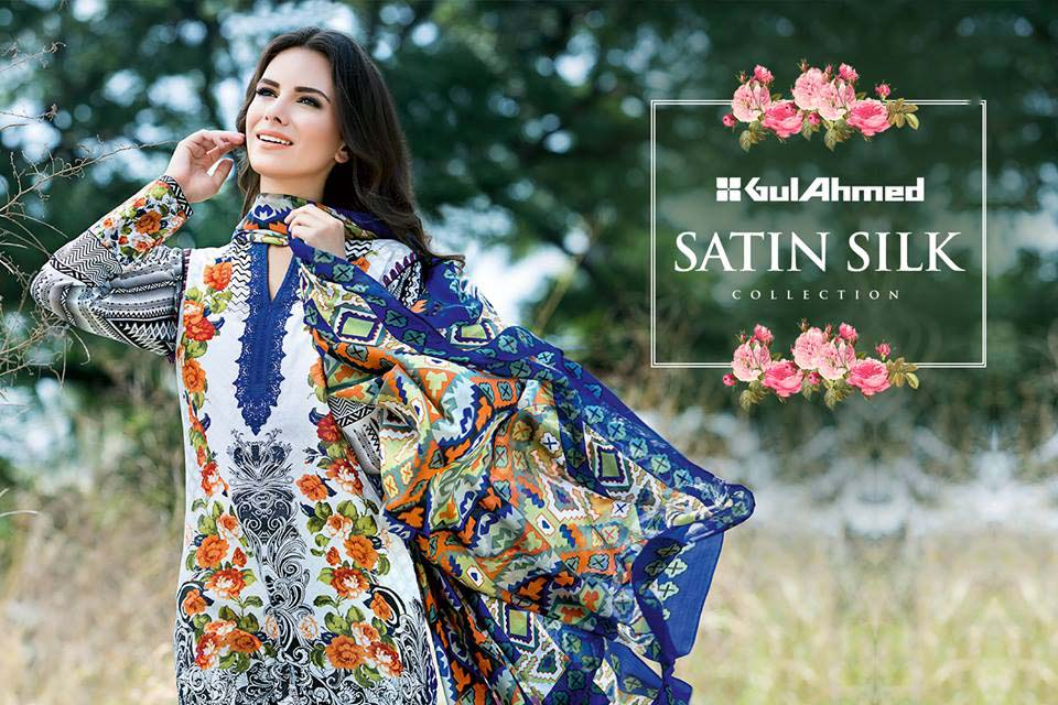 Gul Ahmed Latest sil satin dreses 2016