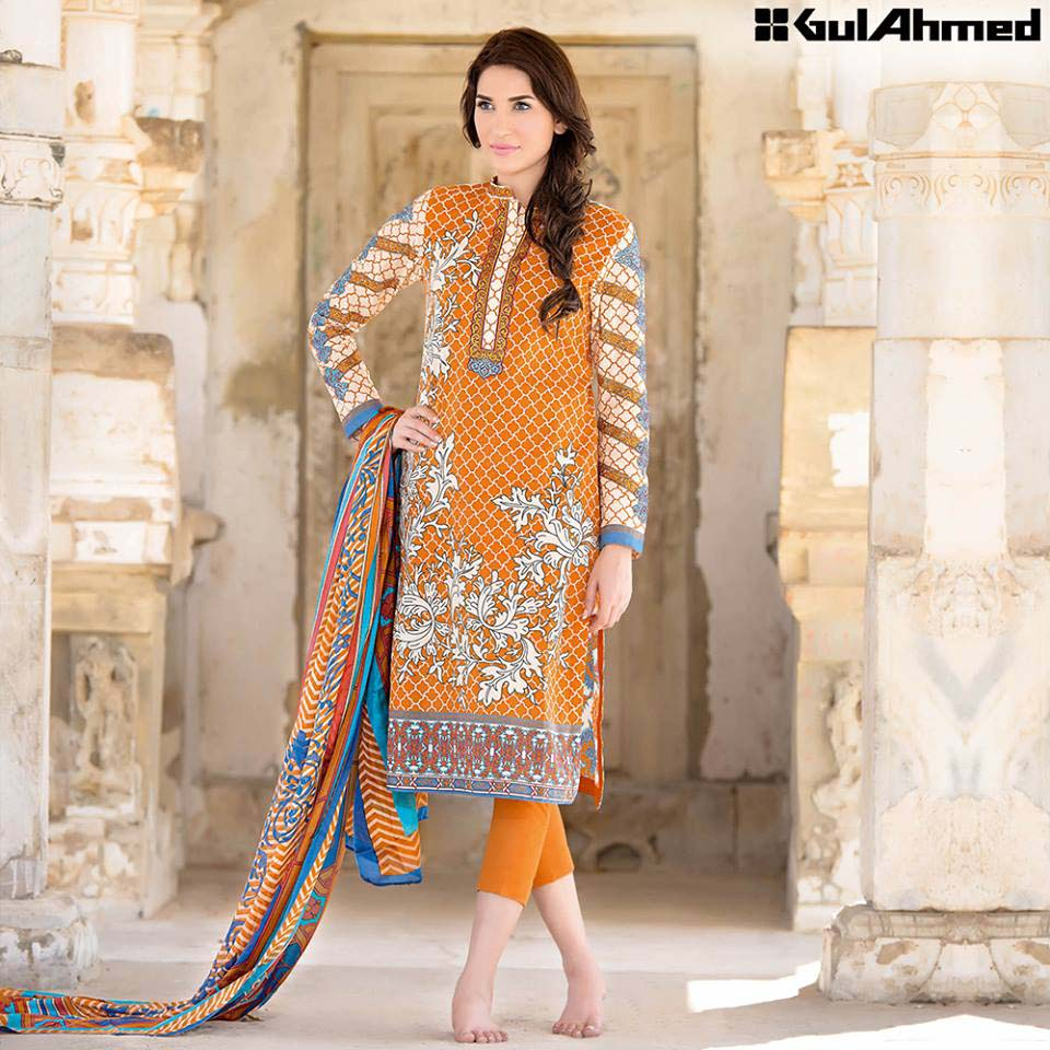 Gul Ahmed Festive Eid 2016 Trencia Satin Silk Collection (12)