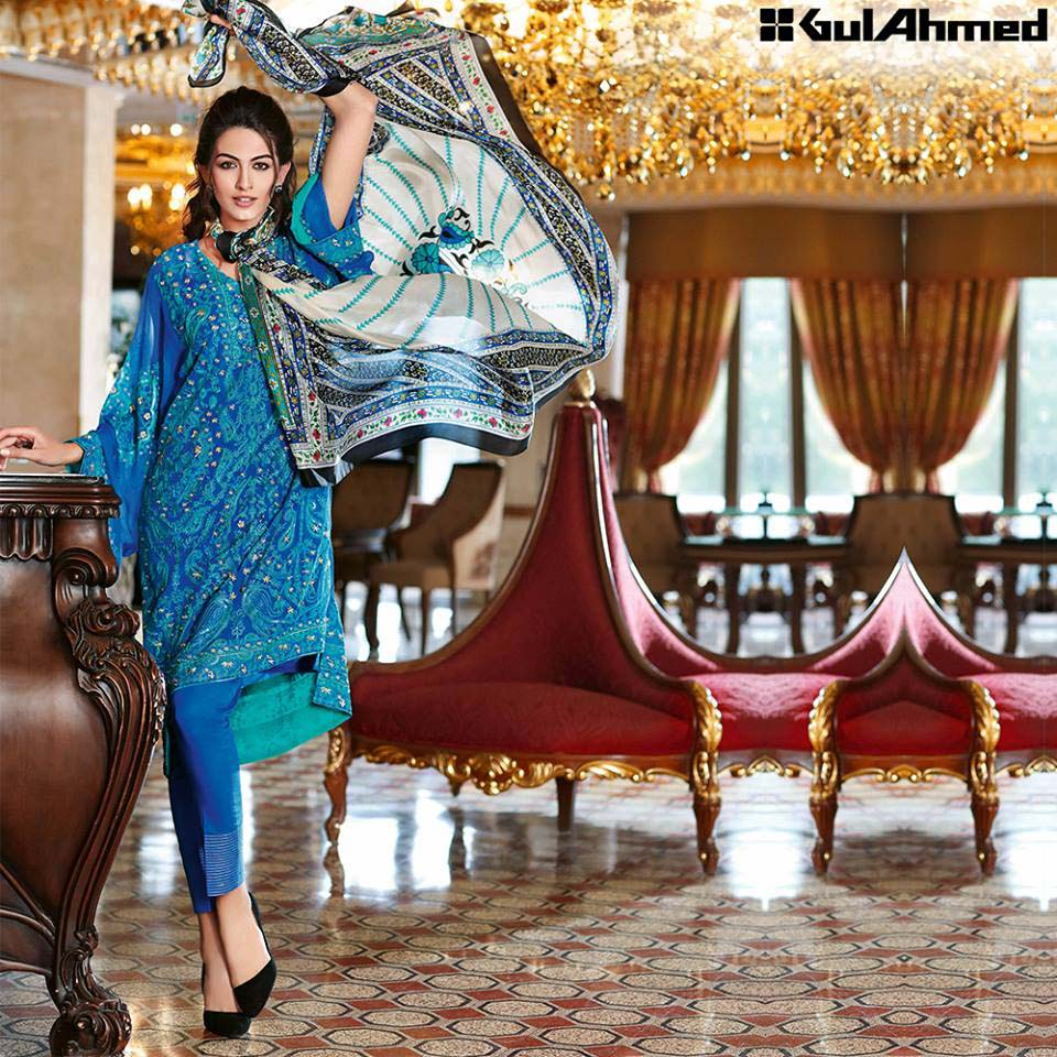 Gul Ahmed Festive Eid 2016 Trencia Satin Silk Collection (13)