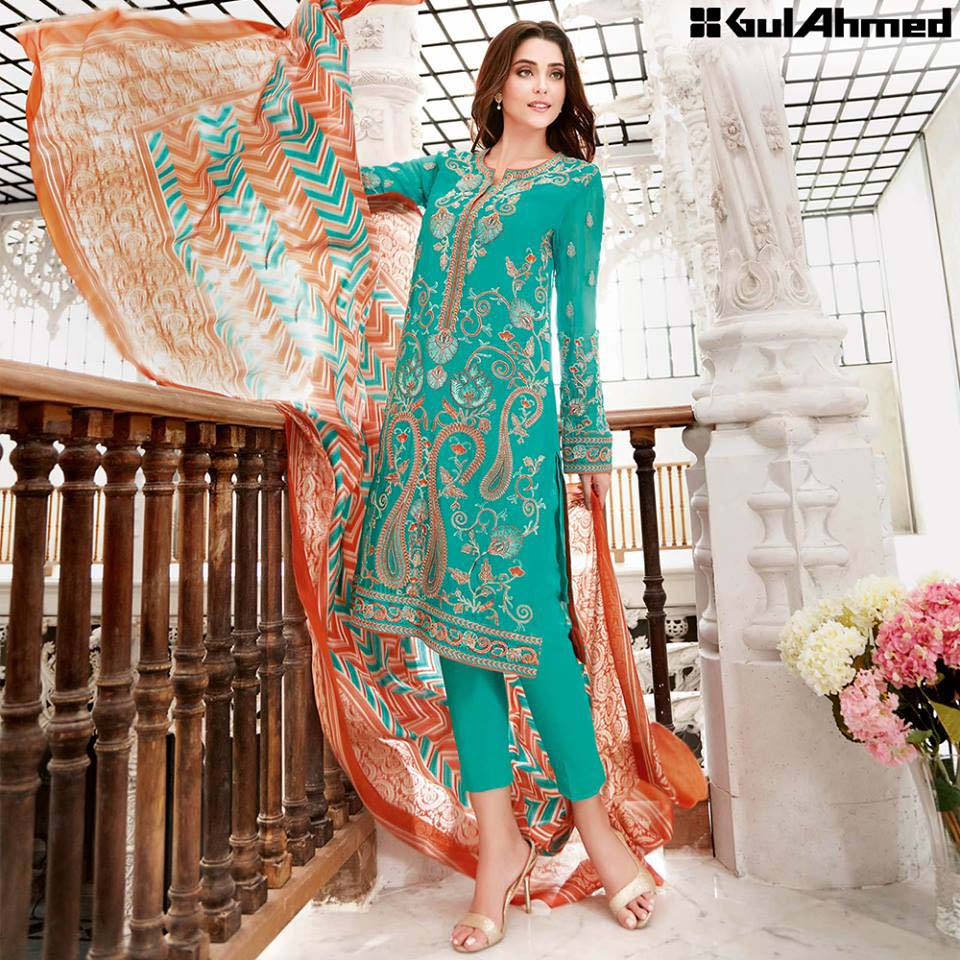 Gul Ahmed Festive Eid 2016 Trencia Satin Silk Collection (16)