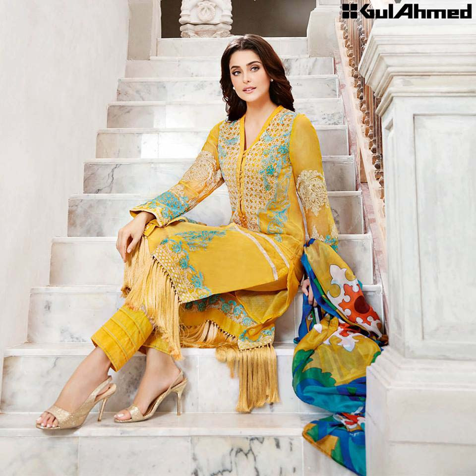 Gul Ahmed Festive Eid 2016 Trencia Satin Silk Collection (2)
