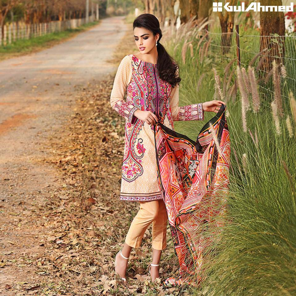 Gul Ahmed Festive Eid 2016 Trencia Satin Silk Collection (3)