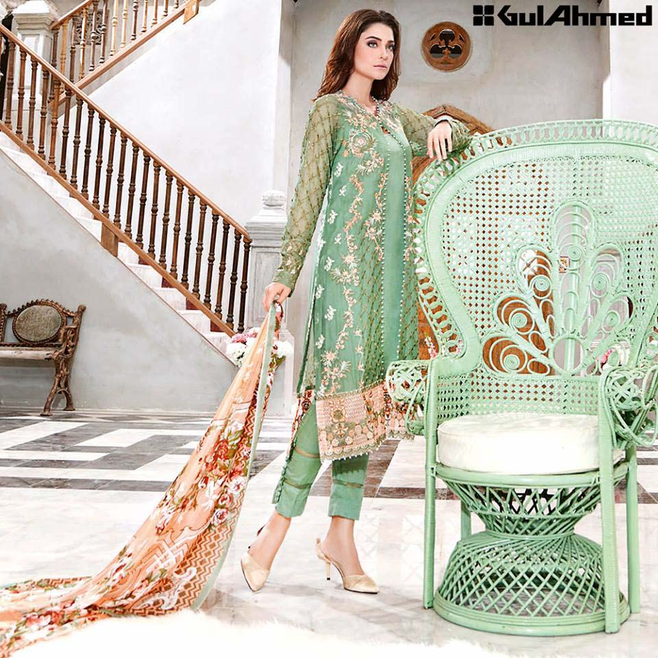 Gul Ahmed Festive Eid 2016 Trencia Satin Silk Collection (6)