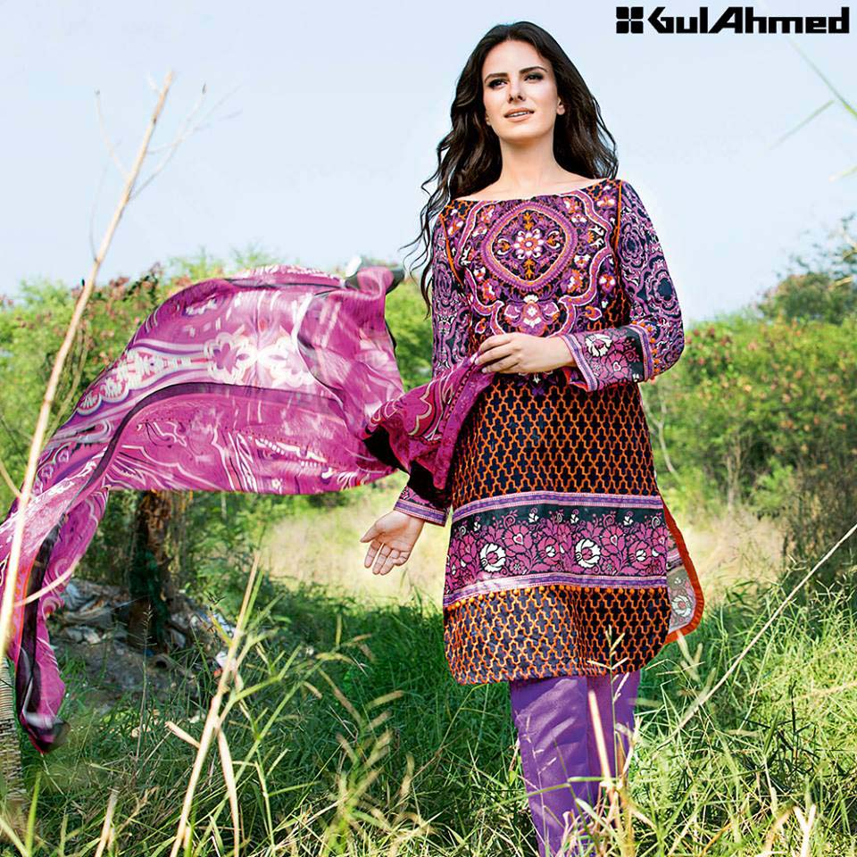 Gul Ahmed Festive Eid 2016 Trencia Satin Silk Collection (9)