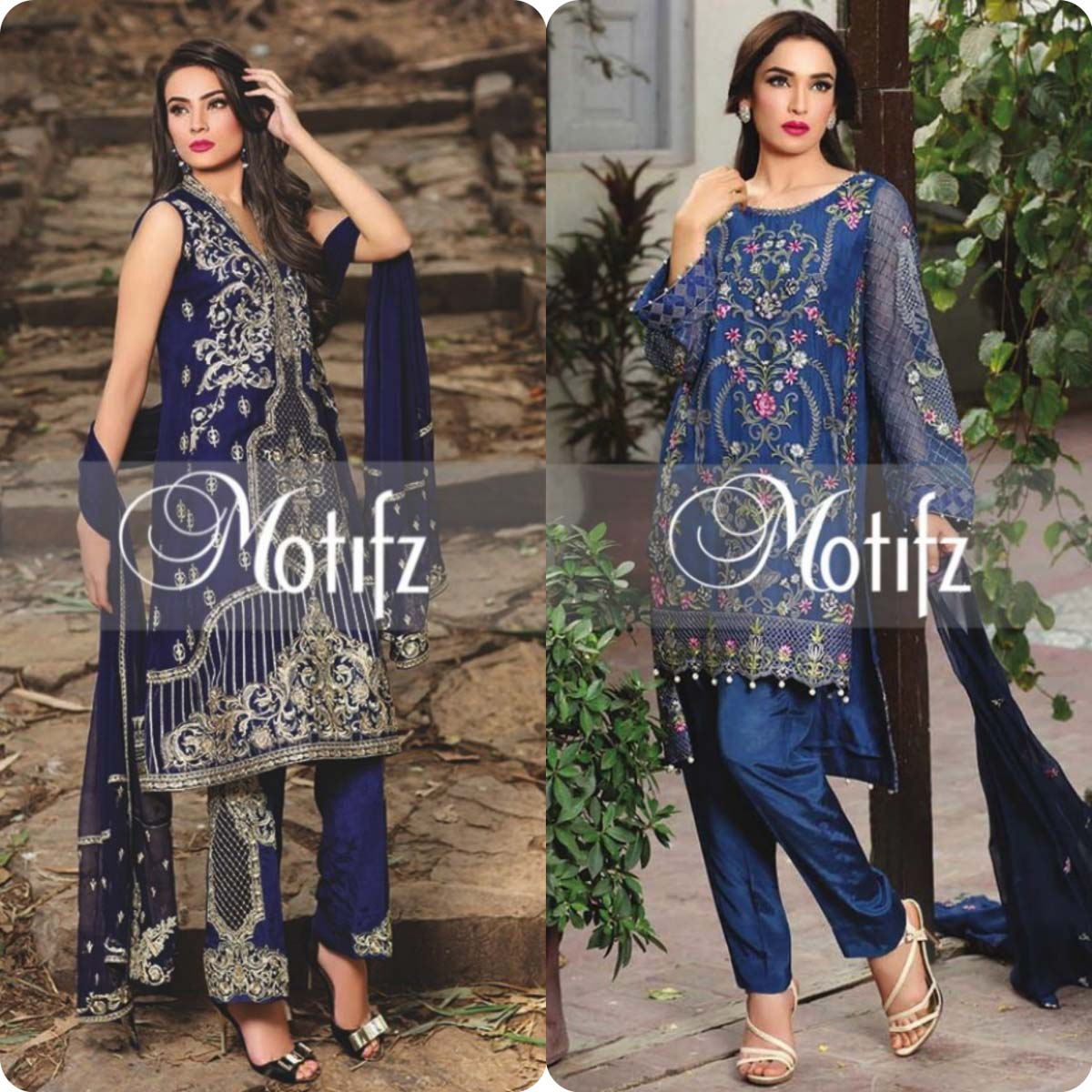Motifz embroidered dresses