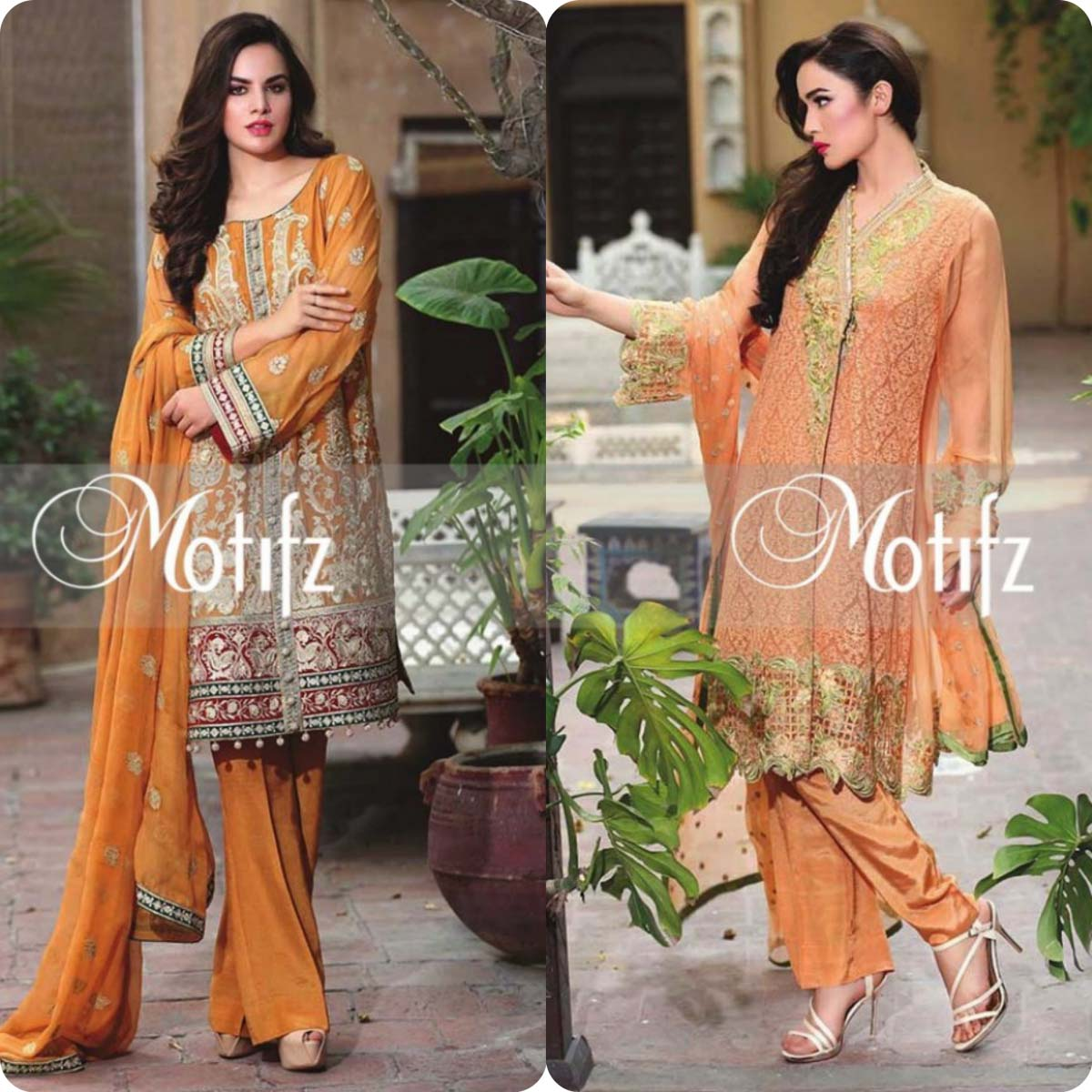 Latest Motifz Embroidered Crinkle Chiffon Eid 2016 Collection for Women (11)
