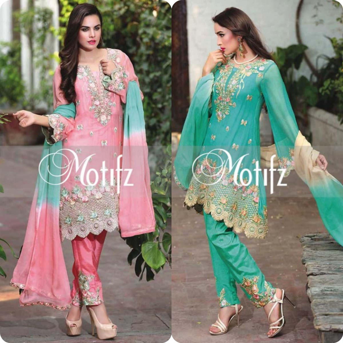 Latest Motifz Embroidered Crinkle Chiffon Eid 2016 Collection for Women (12)