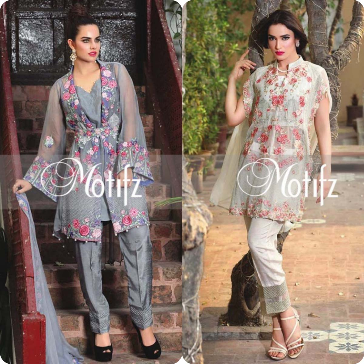 Latest Motifz Embroidered Crinkle Chiffon Eid 2016 Collection for Women (2)