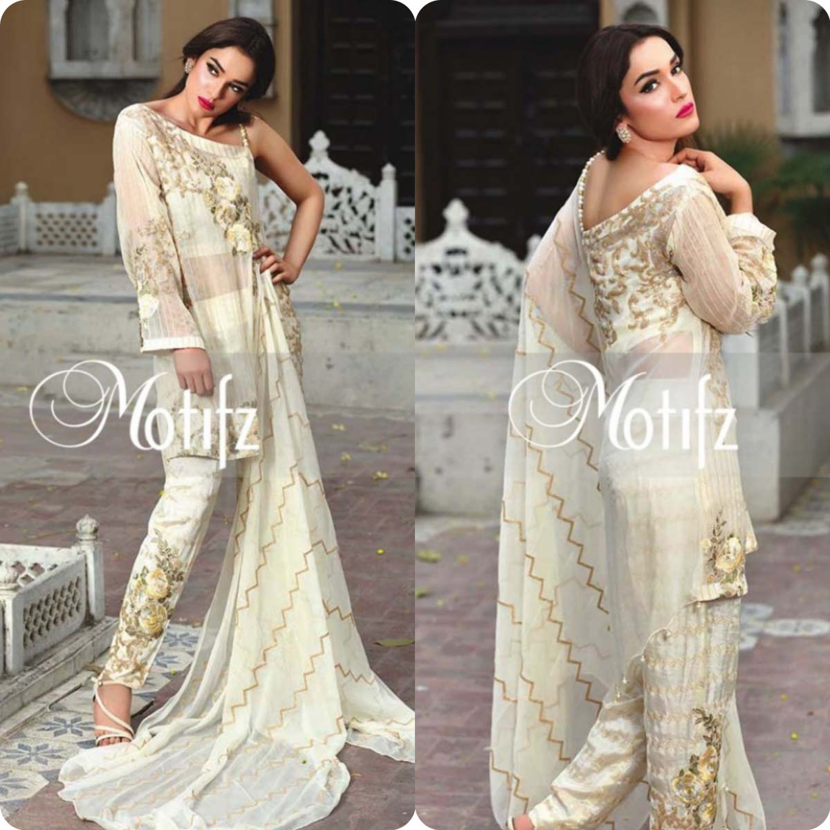 Latest Motifz Embroidered Crinkle Chiffon Eid 2016 Collection for Women (4)
