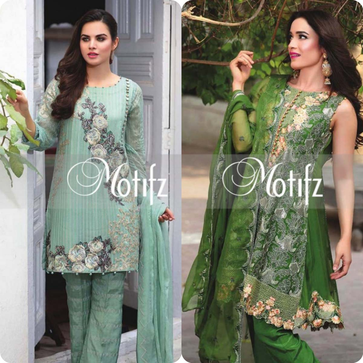 Latest Motifz Embroidered Crinkle Chiffon Eid 2016 Collection for Women (5)