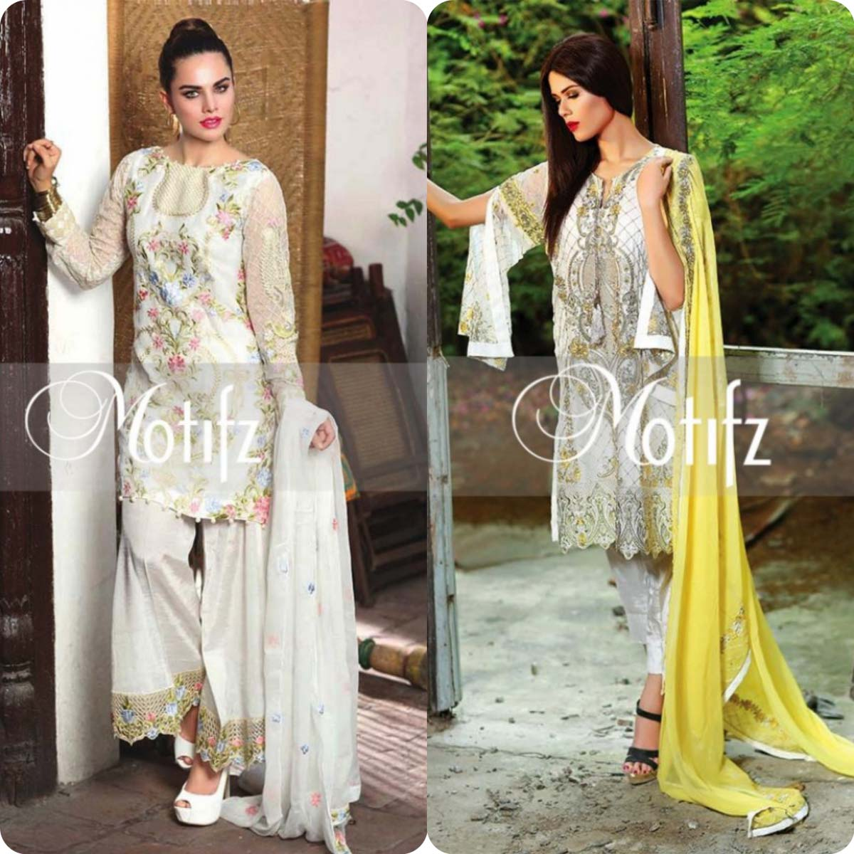 Latest Motifz Embroidered Crinkle Chiffon Eid 2016 Collection for Women (7)