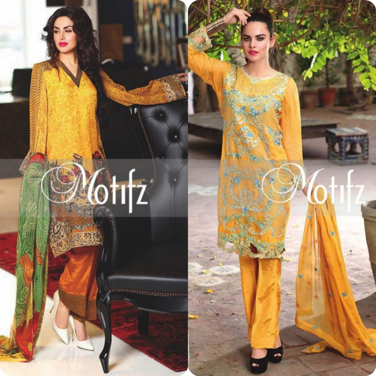 Latest Motifz Embroidered Crinkle Chiffon Eid 2016 Collection for Women (9)