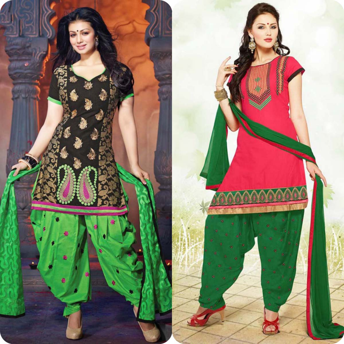 Latest Pakistani and Indian Patiala Shalwar Kameez Suits Designs (11)