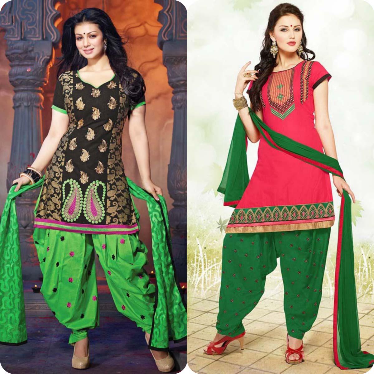 Latest Pakistani and Indian Patiala Shalwar Kameez Suits Designs (11)