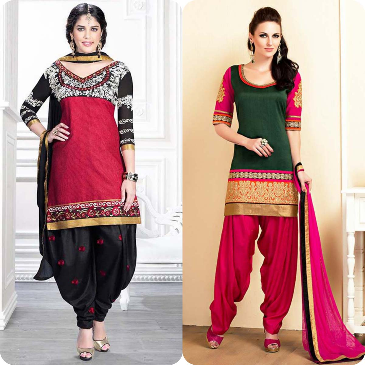 Latest Pakistani and Indian Patiala Shalwar Kameez Suits Designs (12)