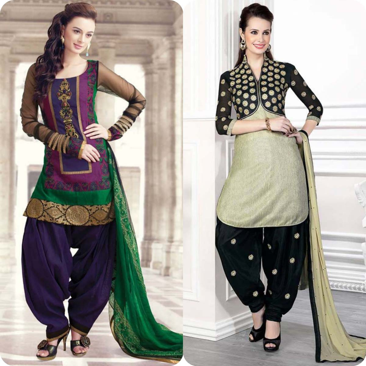 Latest Pakistani and Indian Patiala Shalwar Kameez Suits Designs (13)