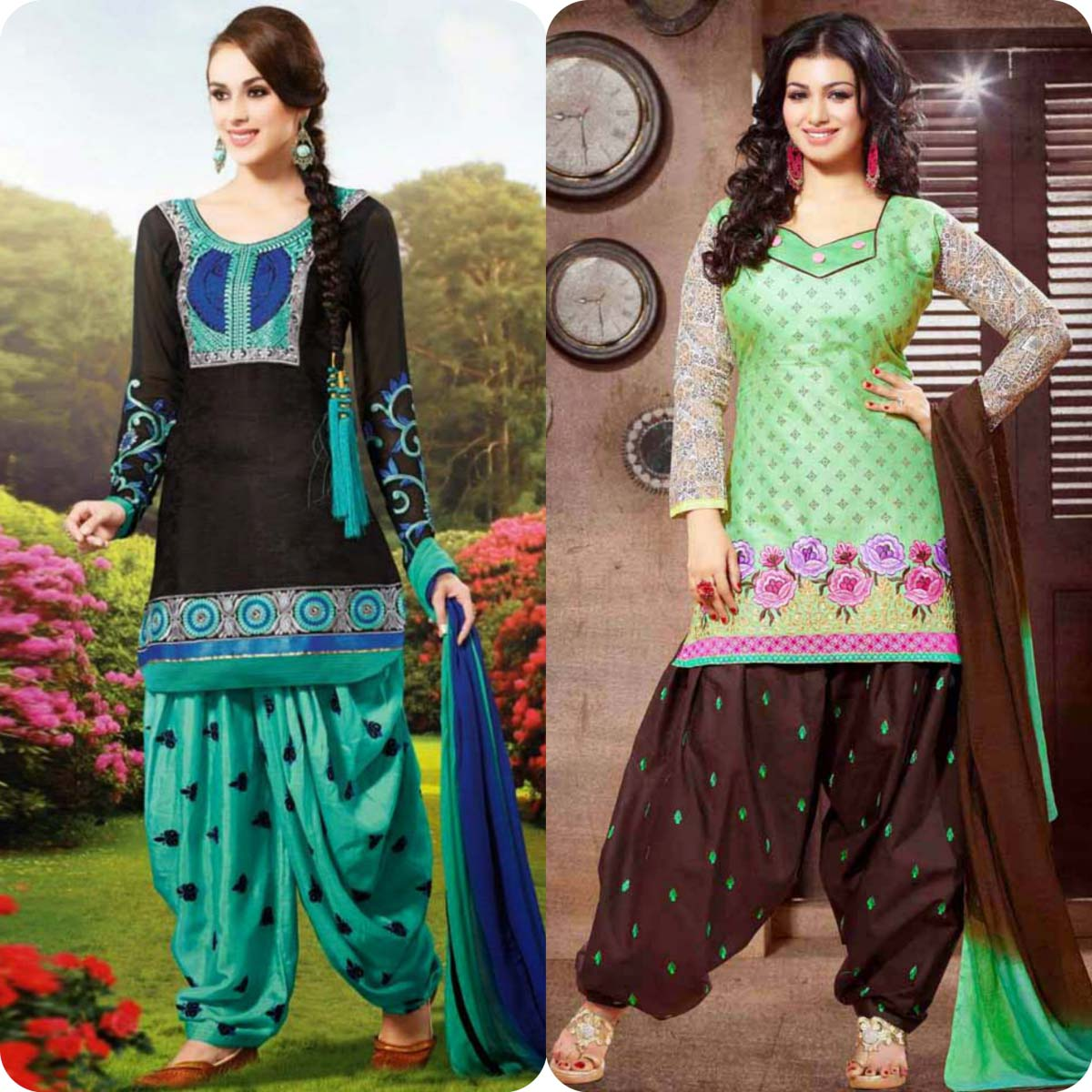 Latest Pakistani and Indian Patiala Shalwar Kameez Suits Designs (15)