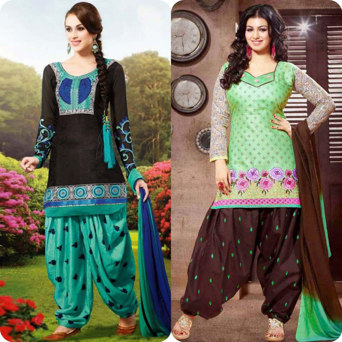 Latest Pakistani and Indian Patiala Shalwar Kameez Suits Designs (15)