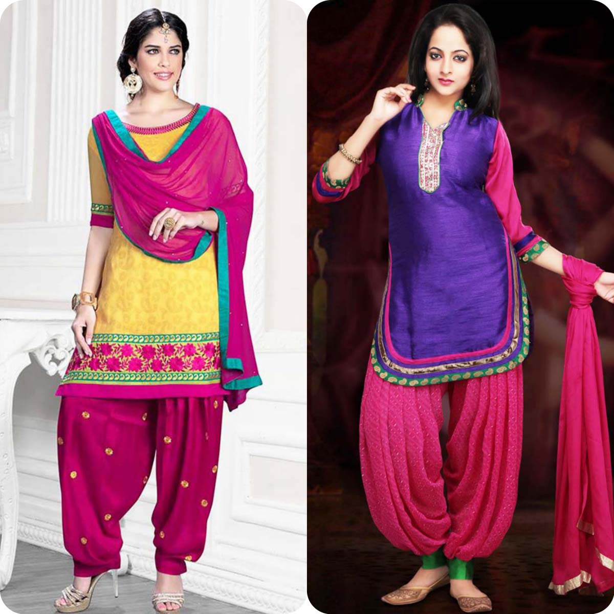 Stylish patiala shalwar deisgns