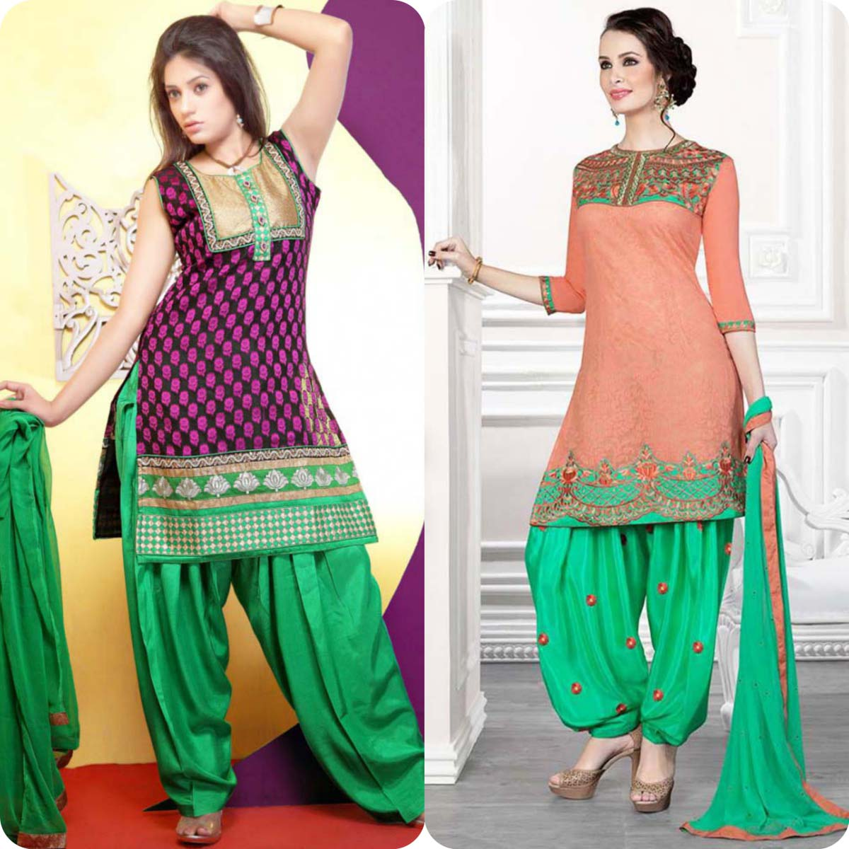 Latest Pakistani and Indian Patiala Shalwar Kameez Suits Designs (4)