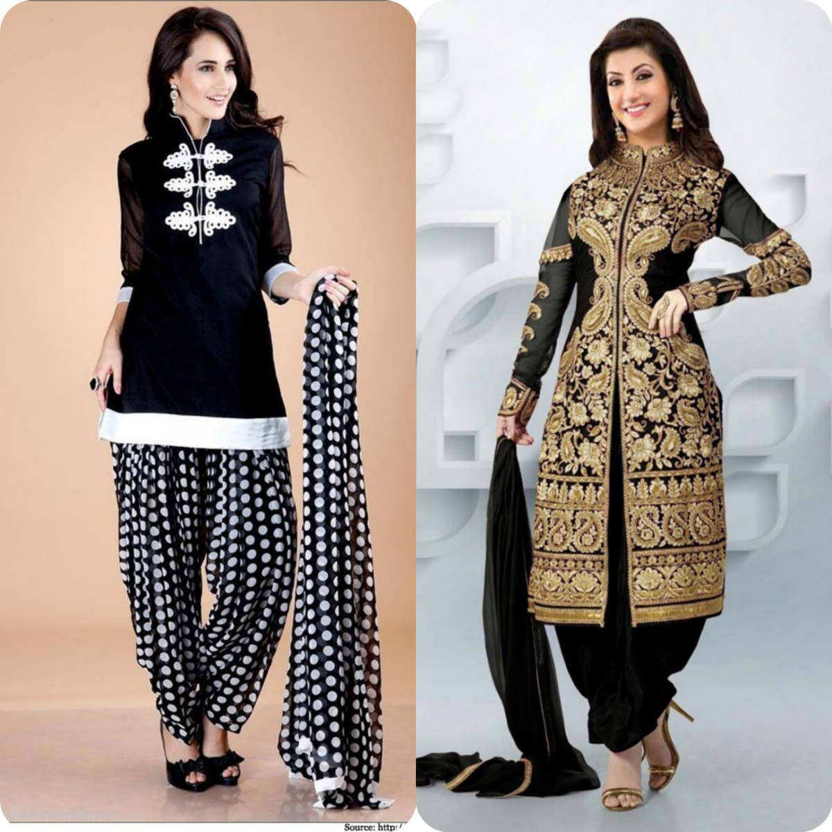 Latest Pakistani and Indian Patiala Shalwar Kameez Suits Designs (5)