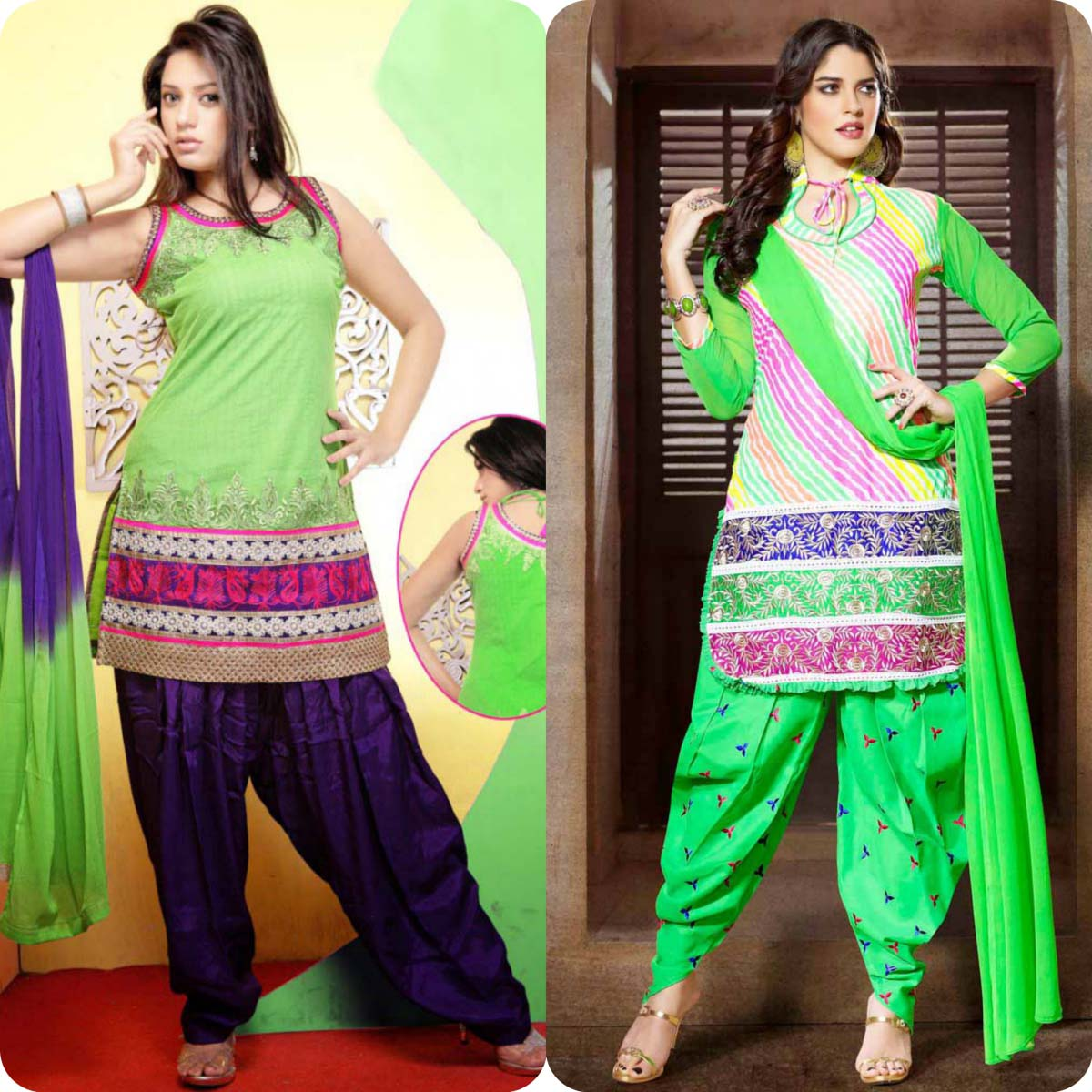 Latest Pakistani and Indian Patiala Shalwar Kameez Suits Designs (8)