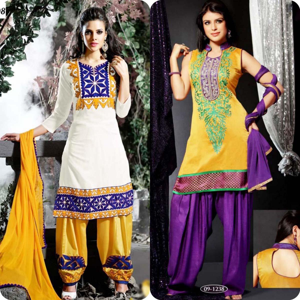 Latest Pakistani and Indian Patiala Shalwar Kameez Suits Designs (9)
