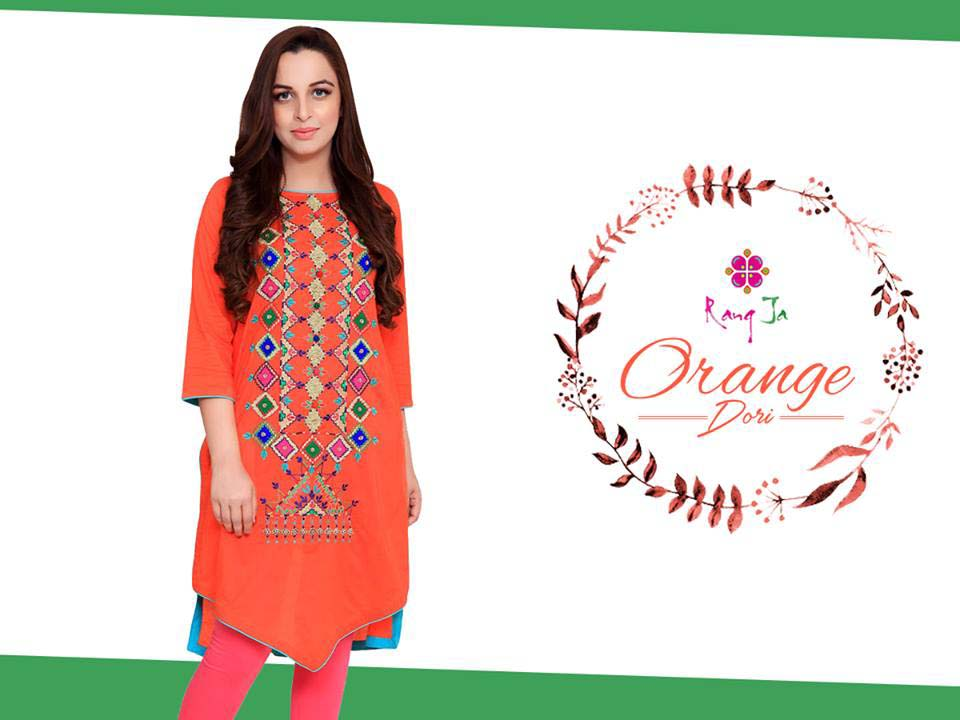 Rang Ja Orange Dori Dresses Collection 2016