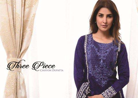 Strangi Eid Collection 2016- 3 piece suit with Chiffon Dupatta by Bonanza (1)