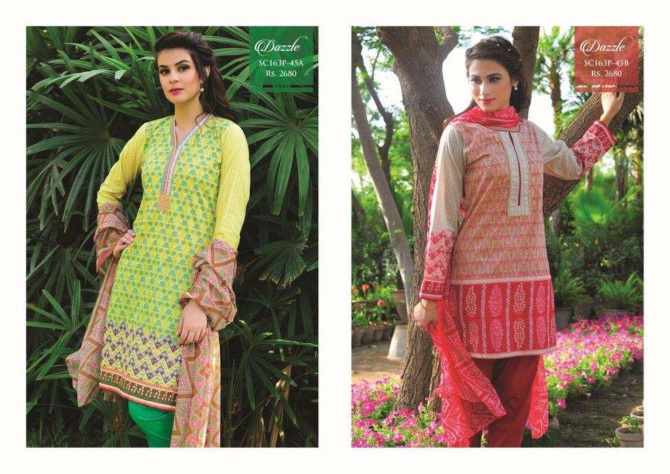 Strangi Eid Collection 2016- 3 piece suit with Chiffon Dupatta by Bonanza (10)