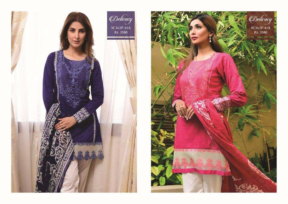 Strangi Eid Collection 2016- 3 piece suit with Chiffon Dupatta by Bonanza (12)