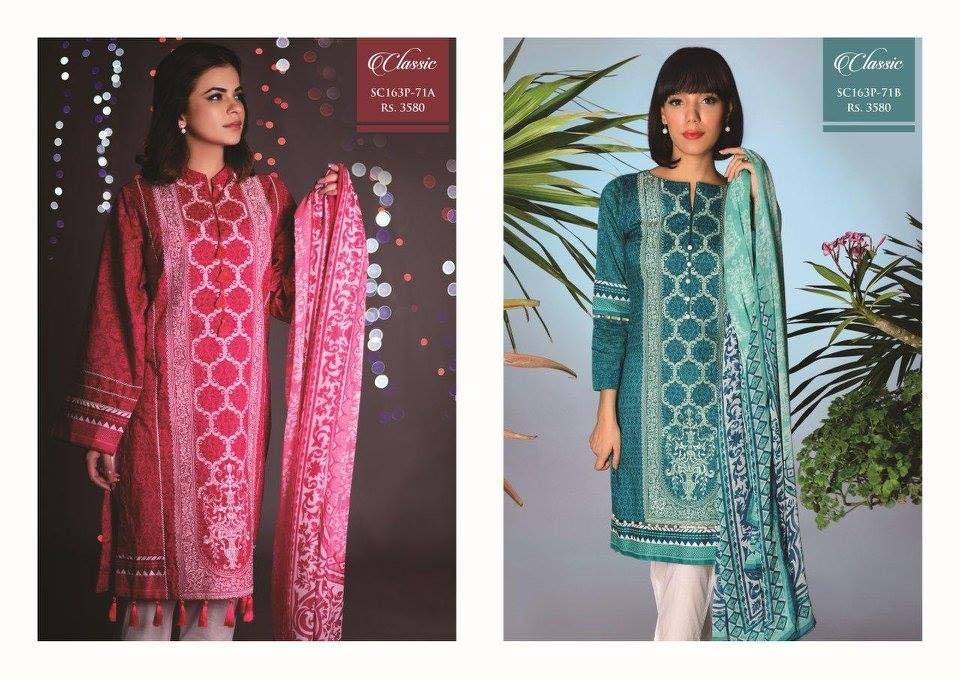 Strangi Eid Collection 2016- 3 piece suit with Chiffon Dupatta by Bonanza (13)